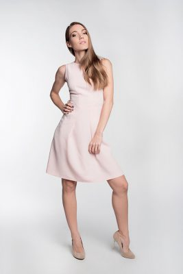 Платье коктейльное Розовое