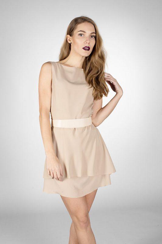Платье коктейльное Beige