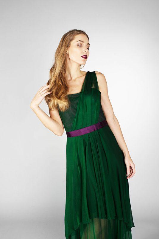 Платье вечернее Green- Юлия Древа